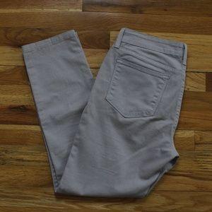 Gray straight leg stretch women's pants